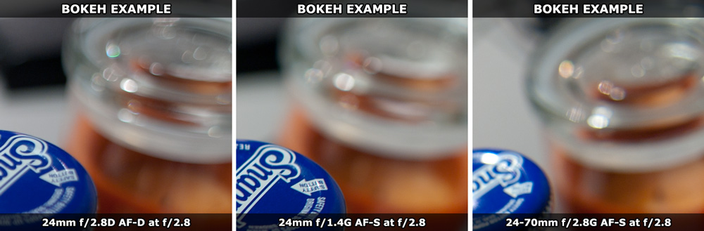 Nikon BOKEH 24-70mm f/2.8G AF-S Comparison