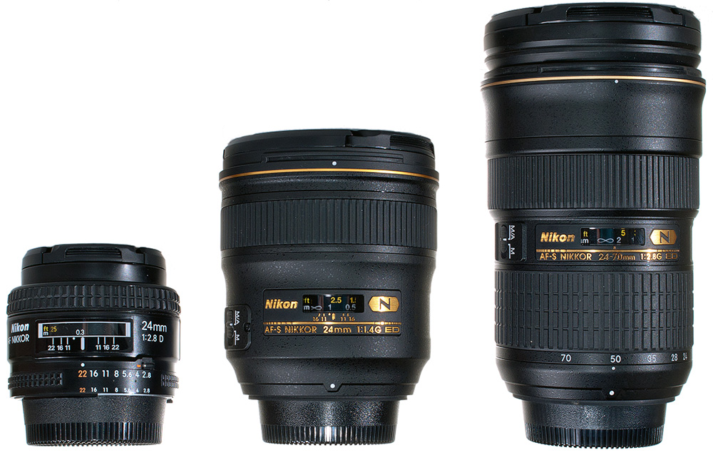 Nikon 24mm 1.4 Size Comparison