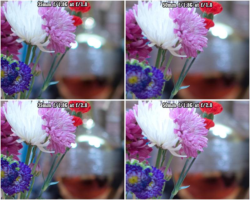 Lens 35mm vs 50mm 35mm F/1.8g vs 50mm F/1.8g