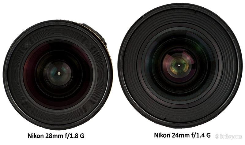 Nikon 28mm f/1.8G SIZE