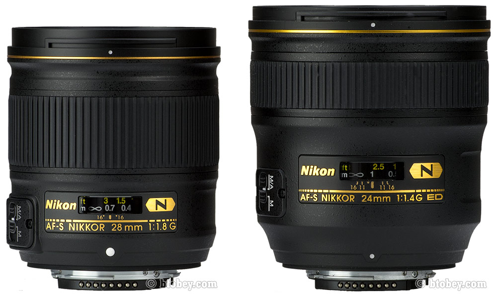 Nikon 28mm f 1.8 G SIZE