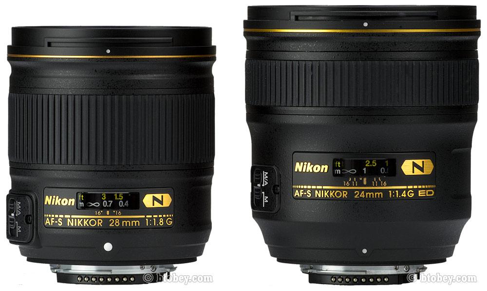 Nikon 28mm f 1.8 G SIZE