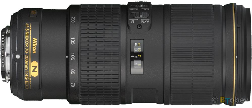 Nikon 70-200mm F/4 VR Build