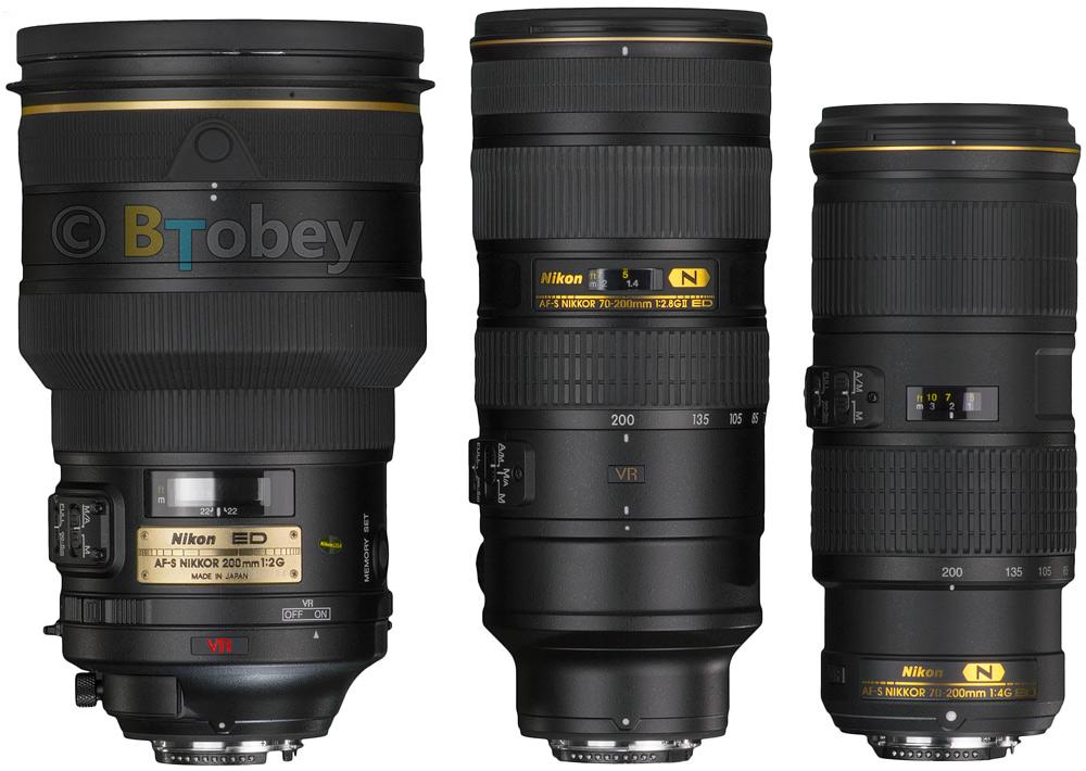 Nikon 70-200mm F/4 VR Comparison